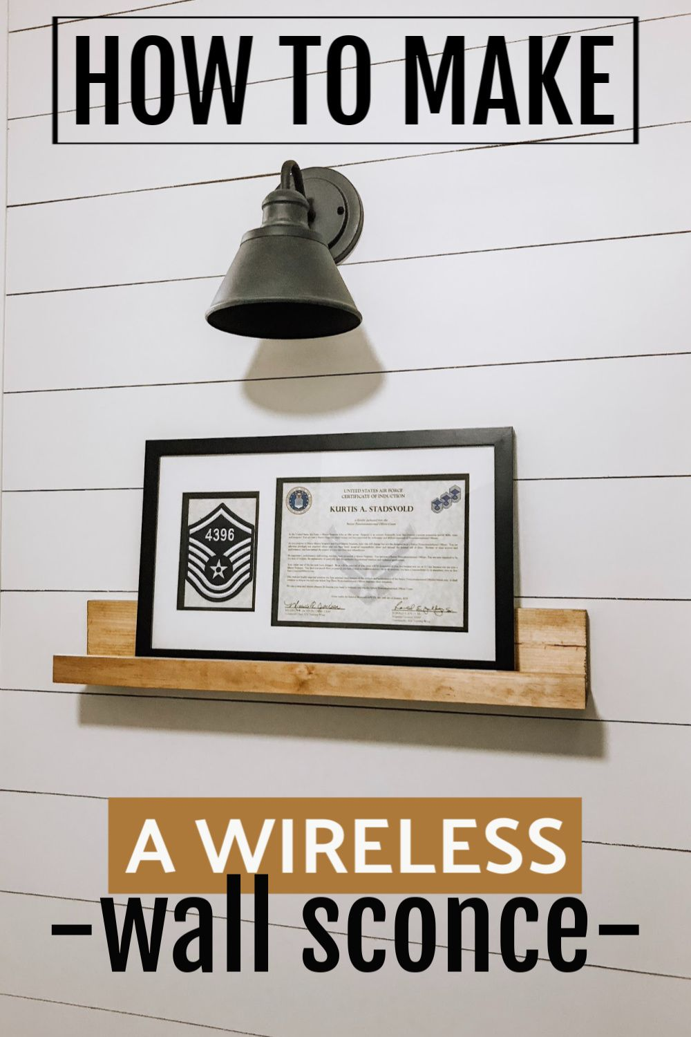 Photo of NO Electricity required! DIY Wall Sconce Lighting