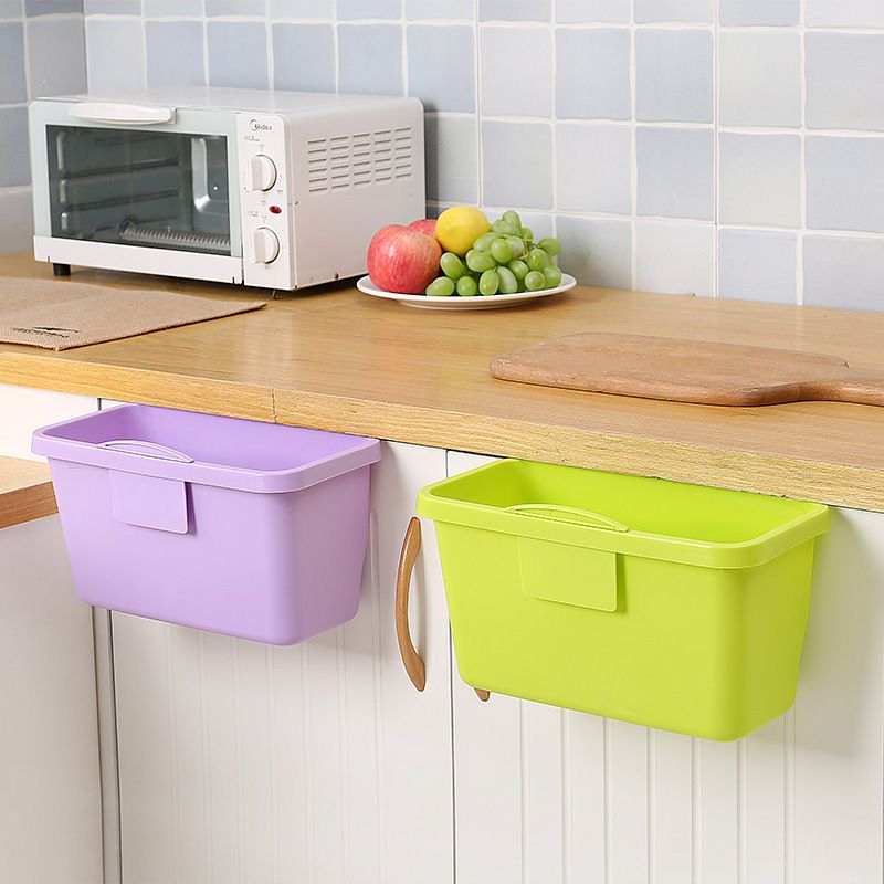 Plastic Kitchen Basket Mini Trash Can Over The Cabinet Waste Basket Container Garbage Rubbish Bin Storage Box Kitchen Baskets Storage Bins Waste Basket
