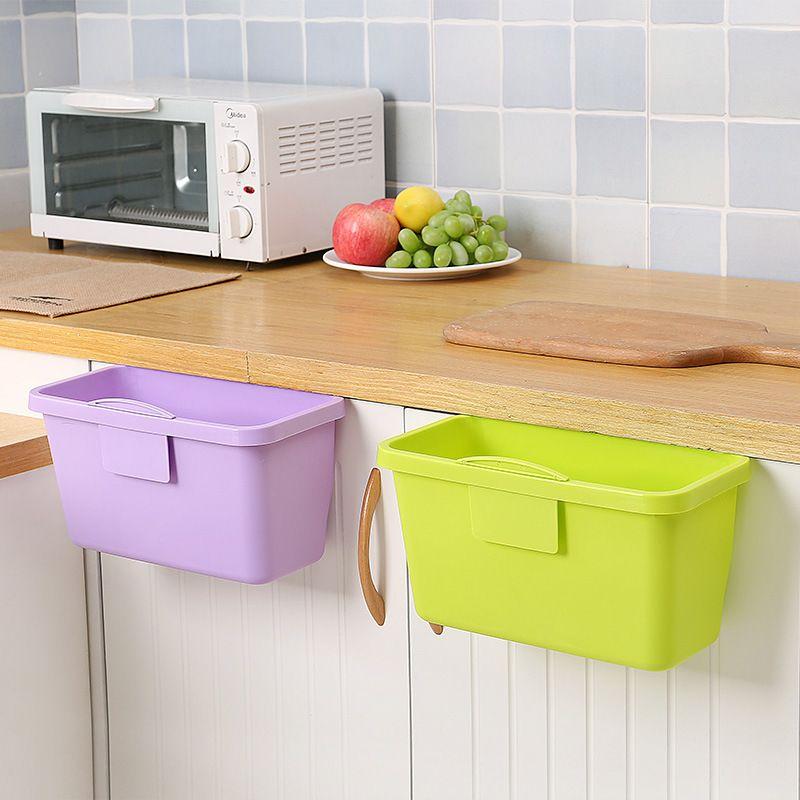 Plastic Kitchen Basket Mini Trash Can Over The Cabinet Waste Basket Container Garbage Rubbish Bin Storage Box Kitchen Baskets Storage Bins Waste Basket