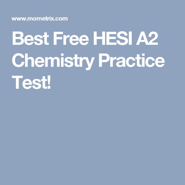 Best Free HESI A2 Chemistry Practice Test! | teas test | Pinterest