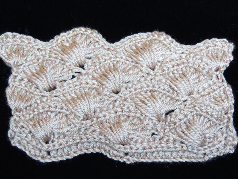 Crochet : Abanico Cruzado. Parte 1 de 2   Puntadas   Pinterest ...