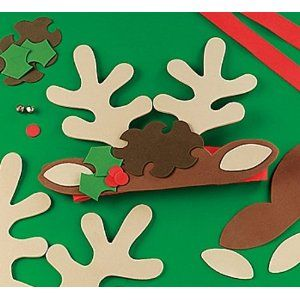 Christmas Headband Craft.Christmas Reindeer Antler Headband Craft Kit X 6 Christmas