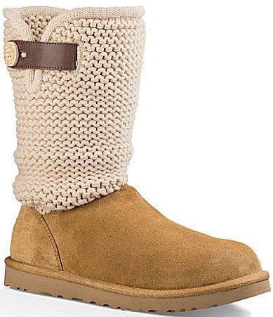 Ugg Shaina Knit Top Boots Ugg Pinterest