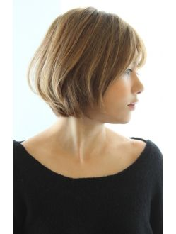 30代 40代人気 お手入れ簡単ニュアンスショートボブ ヘアスタイル ボブ ヘアスタイル 髪型