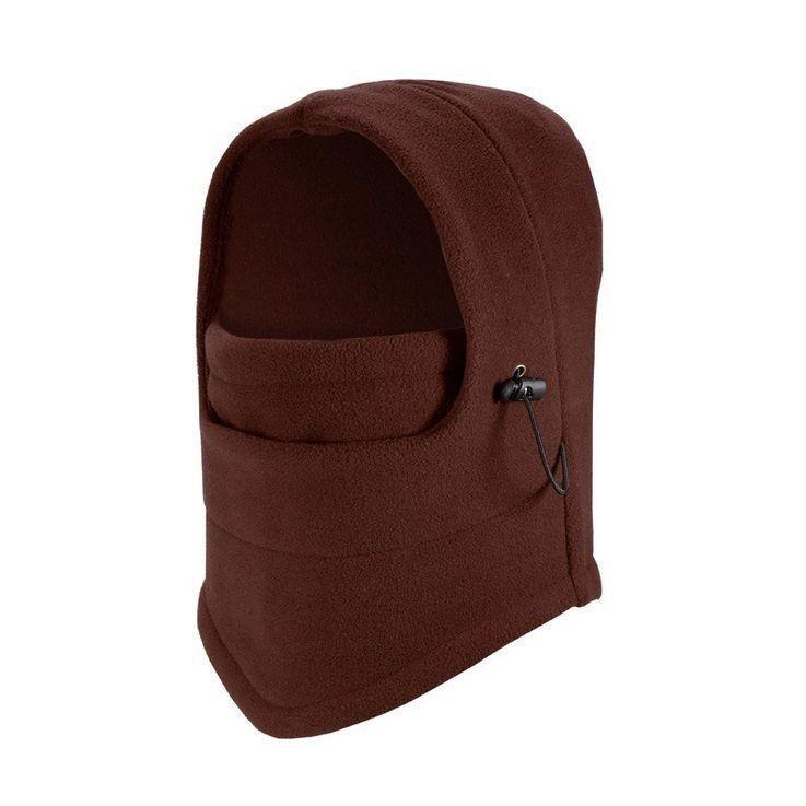 Thermal Fleece Balaclava Hood Hat Caps, Full Face Mask Neck Warmer Scarf