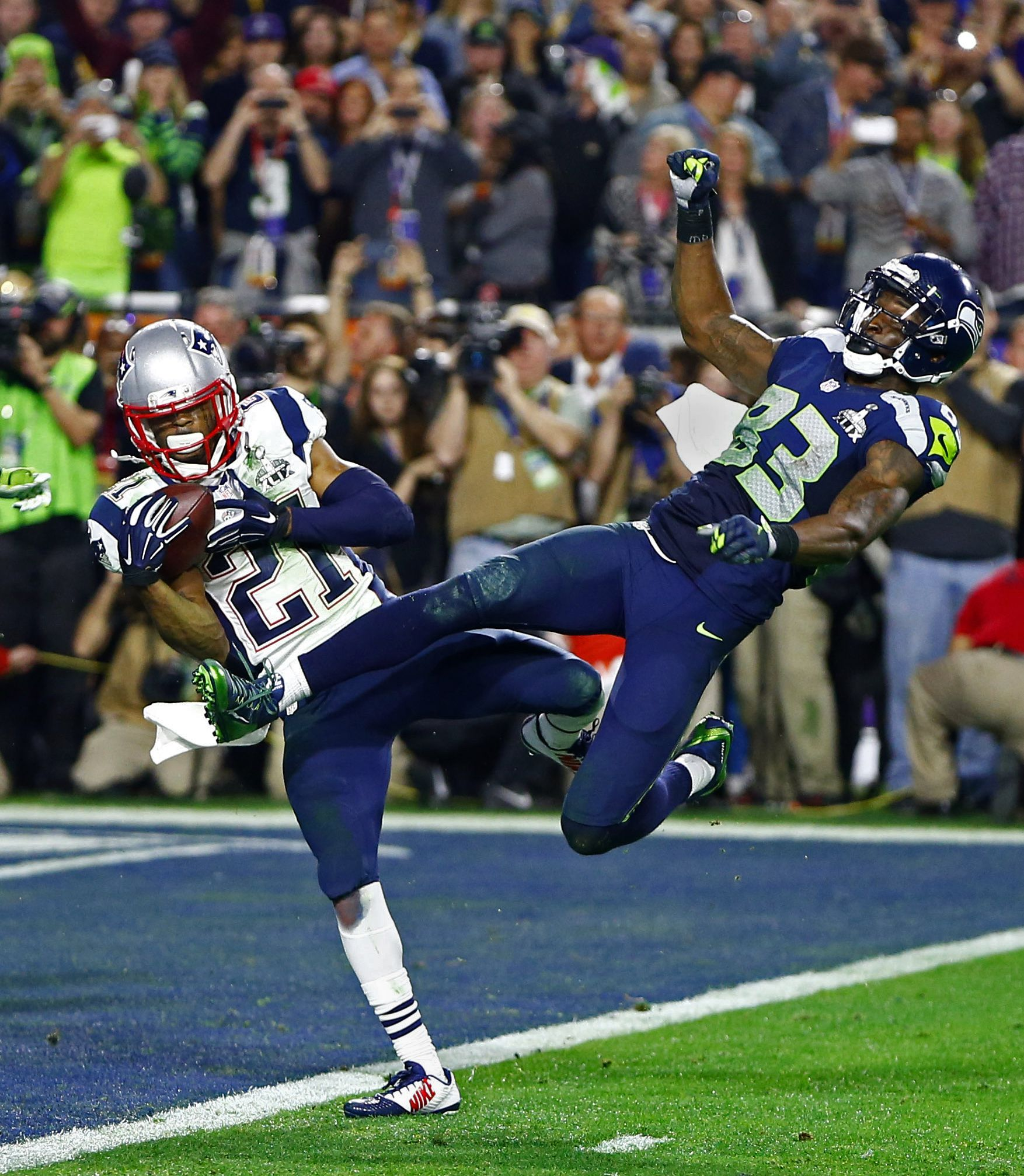 Malcolm Butler S Game Winning Interception With Images New England Patriots