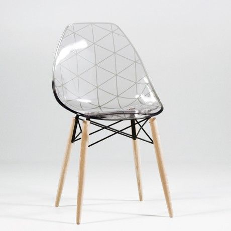 Chaise Design En Plexi Et Bois Glamour Chair Design Chair Eames Chair