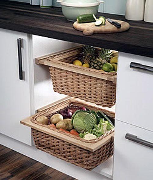 Kitchen Vegetable Storage Baskets: Fruit And Veggie Storage
