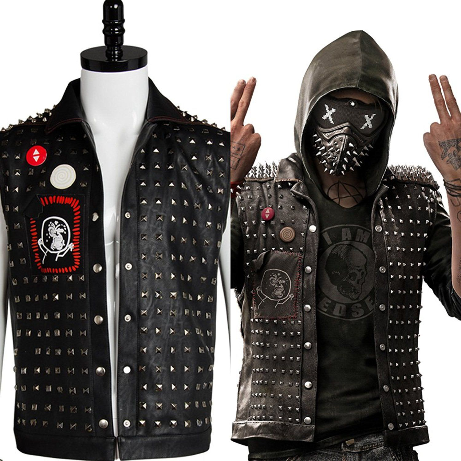 Watch Dogs 2 Wrench Leather Jackets L Leather Jackets For Mens