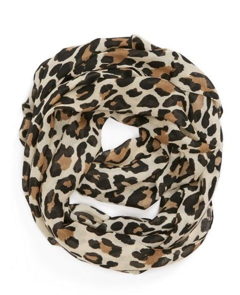 Cheetah print infinity scarf