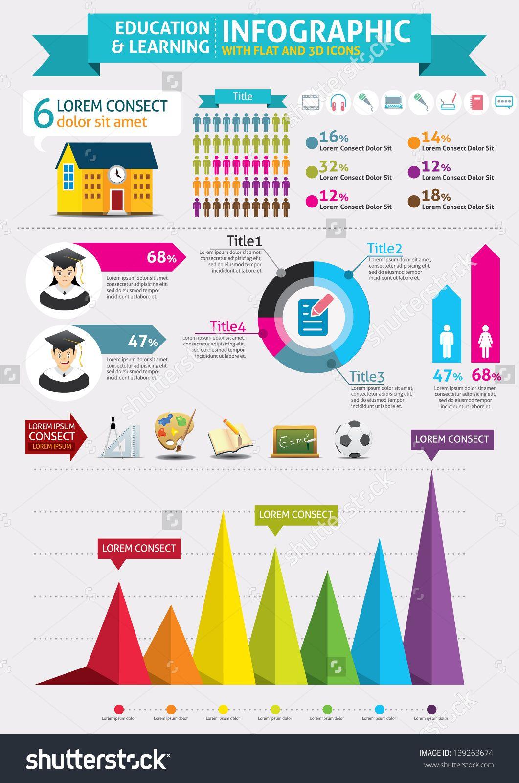 Education Infographics Stock Vector Illustration 139263674 : Shutterstock