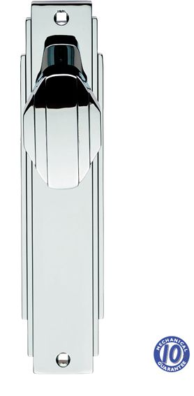 Carlisle Brass \'Art Deco\' Style Door Knob On Backplate (Unsprung ...