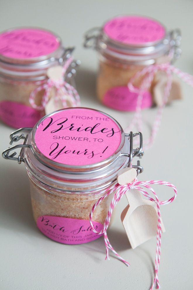 diy how to make your own bridal shower bath salt favors free label download bridalshowerfavors