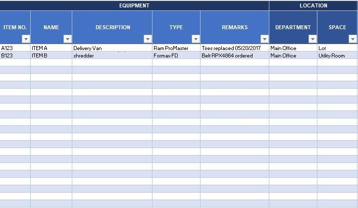 Inventory spreadsheet template in 2020 spreadsheet