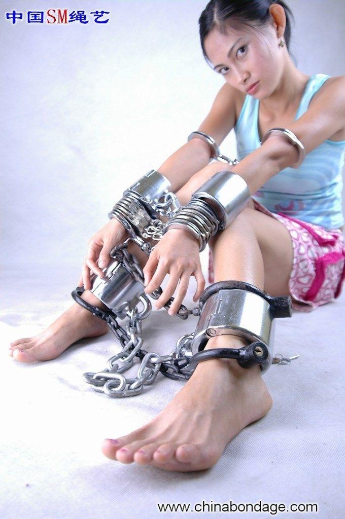 Women handcuffs leg irons bondage