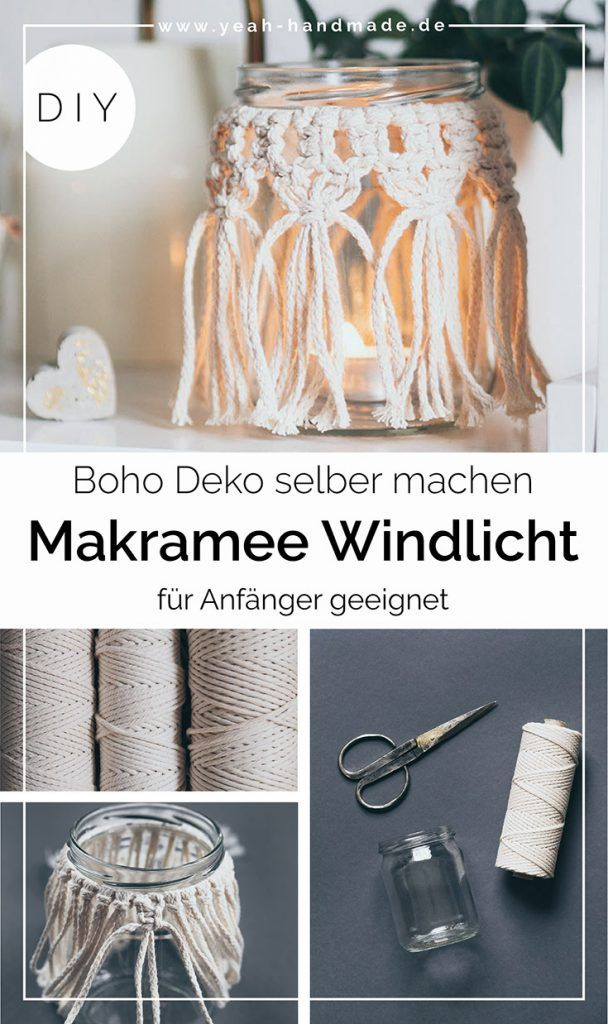 Photo of DIY Makramee Windlicht selber machen – Yeah Handmade