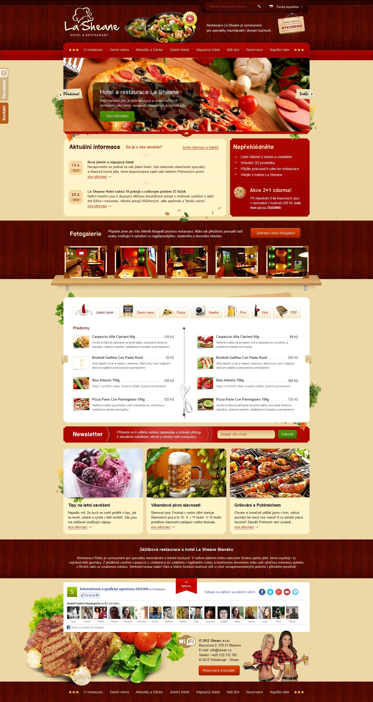Restaurant and Hotel Template for SHEAN web agency by romankac ...