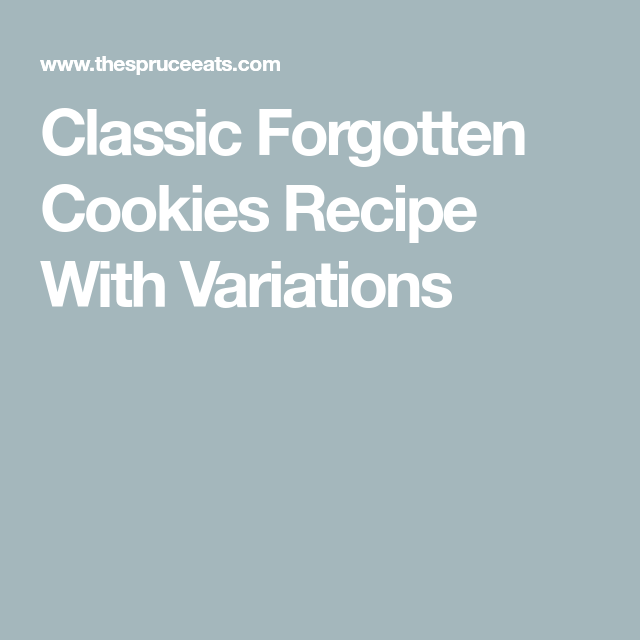 Unforgettable Forgotten Chocolate Chip Cookies