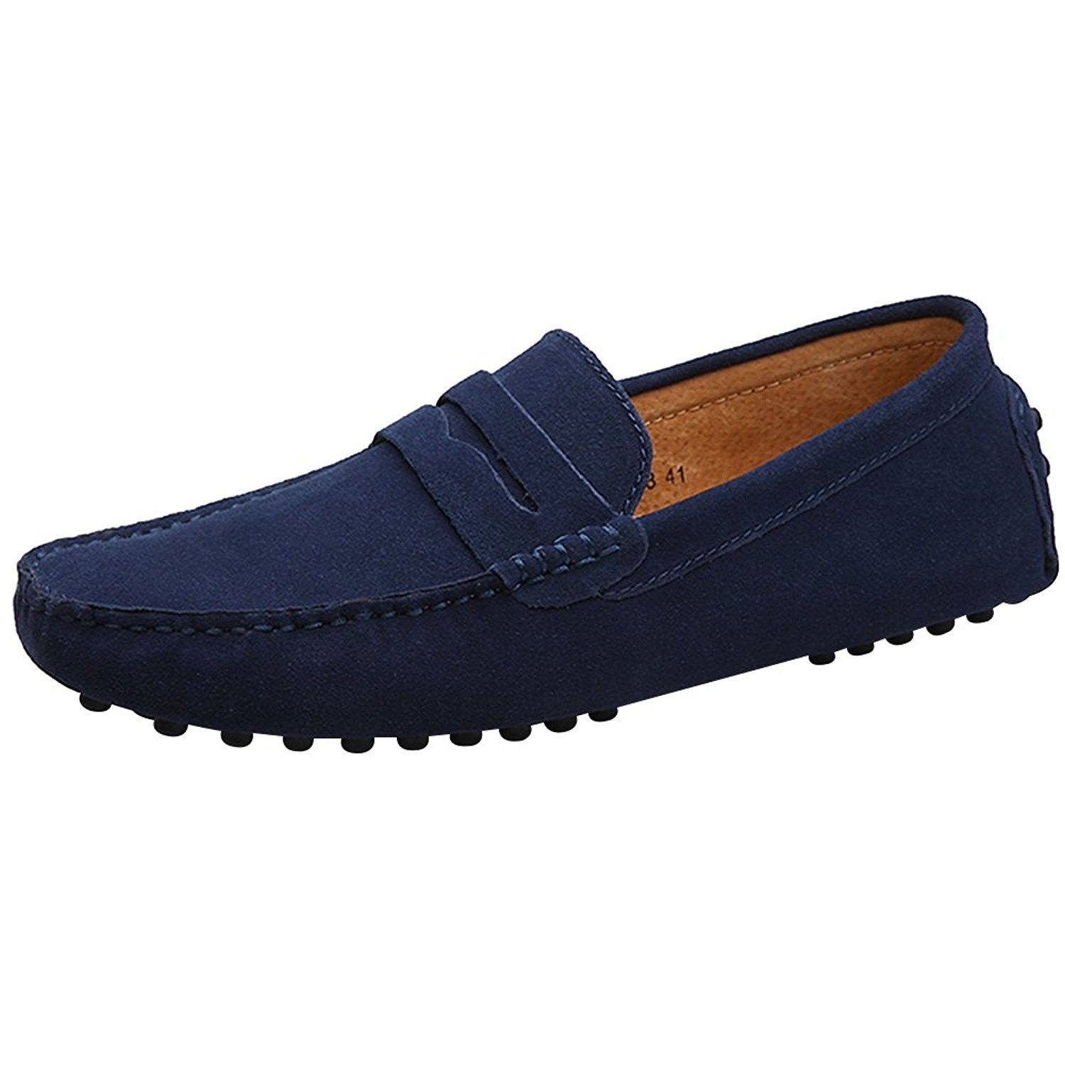 New Mens Casual Driving Loafers Suede Leather Moccasins Slip on Shoes Big Size