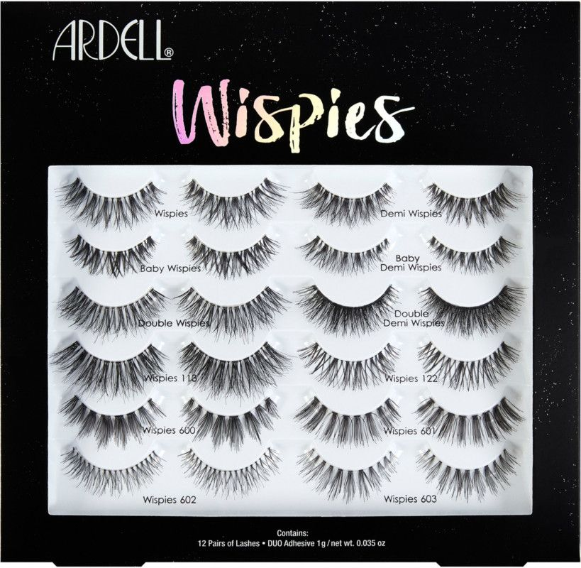 9c765fd2bf5 Wispies on wispies with the Ardell Lash Wispes 12 Piece Pack. Every wispies lash  style in one box this lash box is a lash lovers dream.