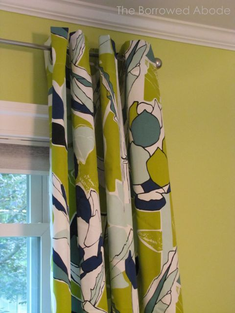 Awesome Ikea Chartreuse Navy Floral Curtains
