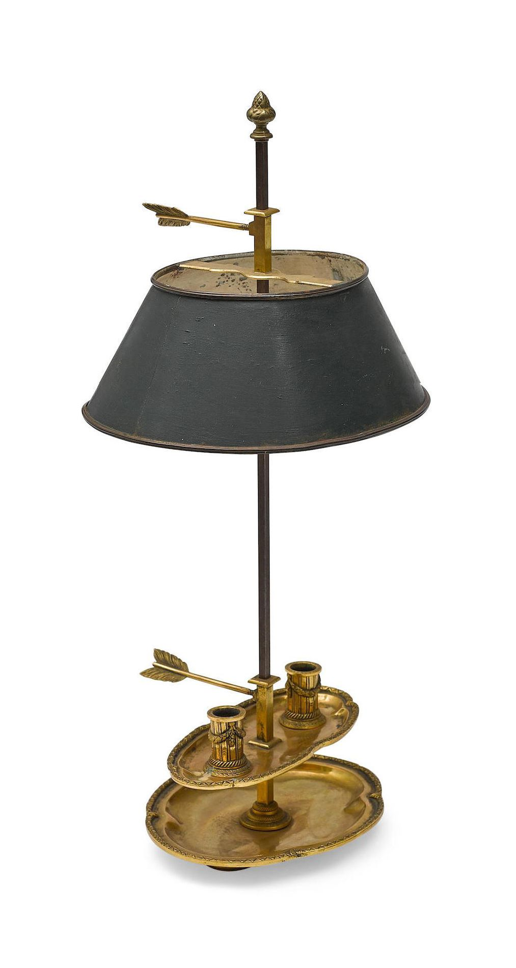 A Louis Xvi Gilt Bronze And Painted Tole Bouillotte Lamp Fourth Quarter 18th Century Dim Height 24in 61cm Lamp Lighting Design Interior Rich Decor