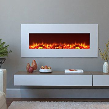 Amazon Com Moda Flame Houston 50 Electric Wall Mounted Fireplace