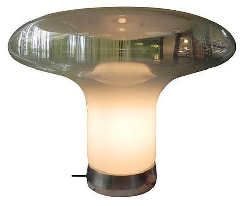 Design By Angelo Mangiarotti Vintage Mid Century Lamps Glass Lamp Light