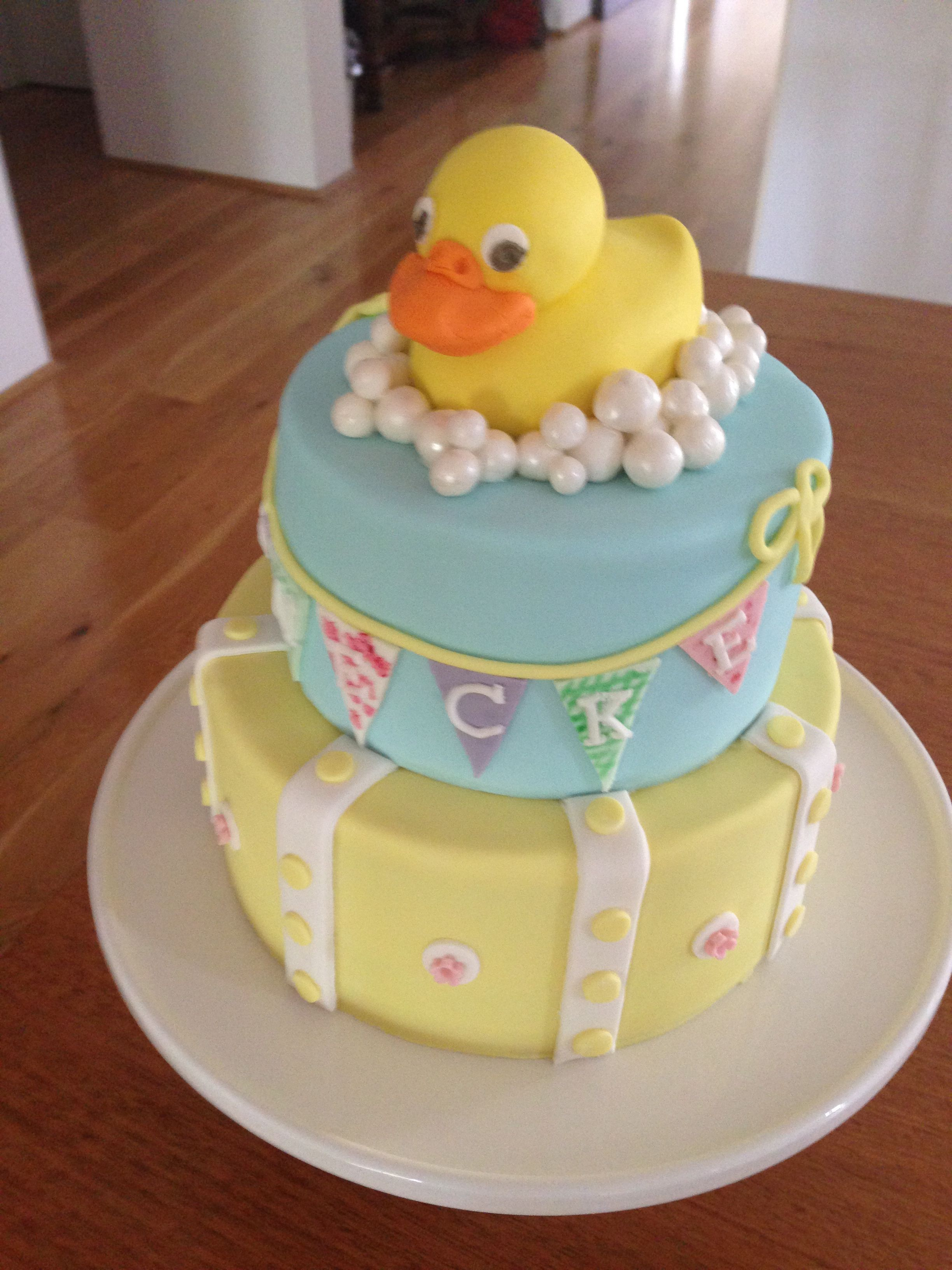 Rubber Ducky First Birthday Cake Marita Makes Cakes Pinterest