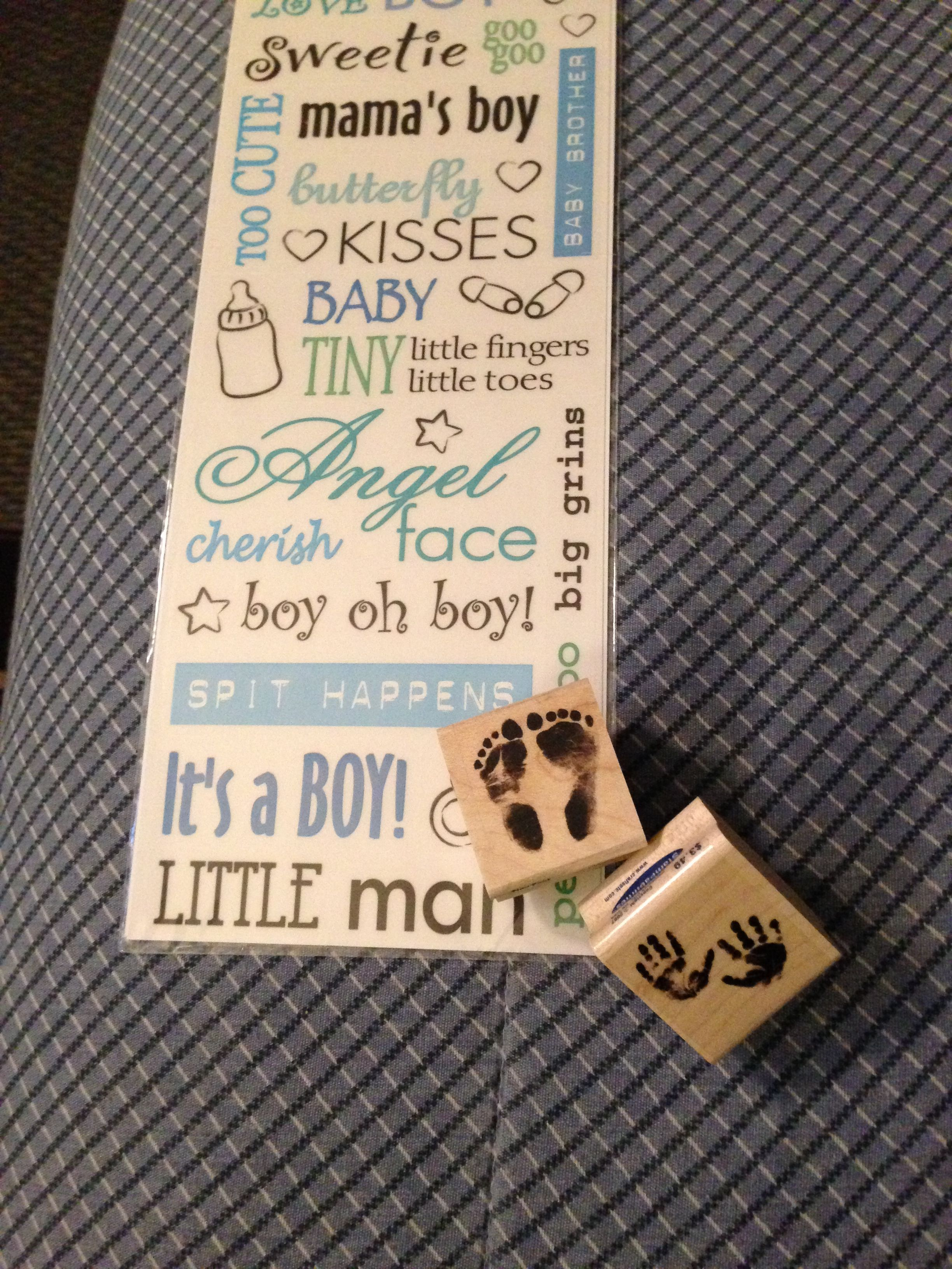 Stamps and stickers for baby shower calendar Guess the due date