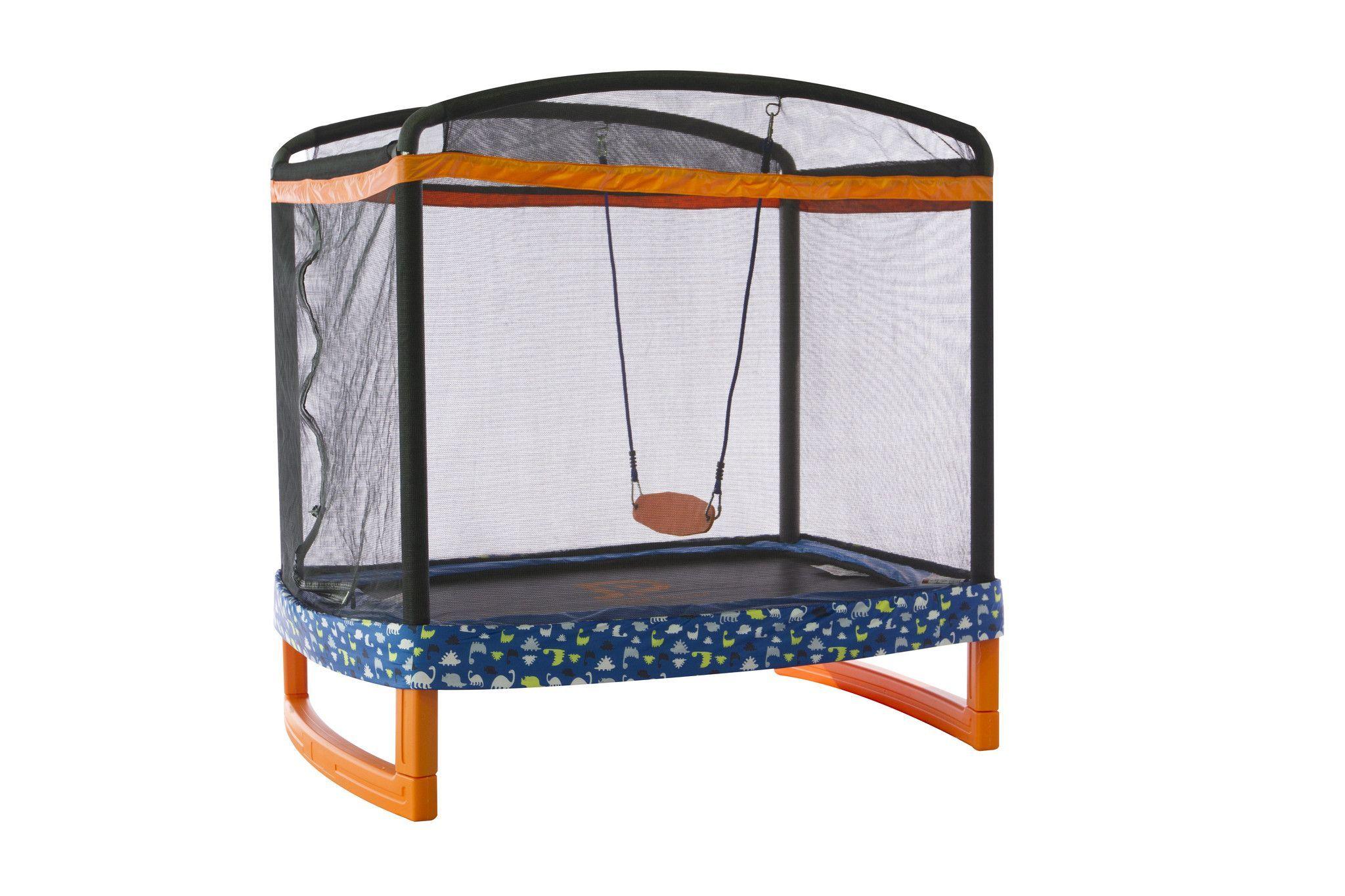 72 x 50 rectangular indooroutdoor trampoline combo
