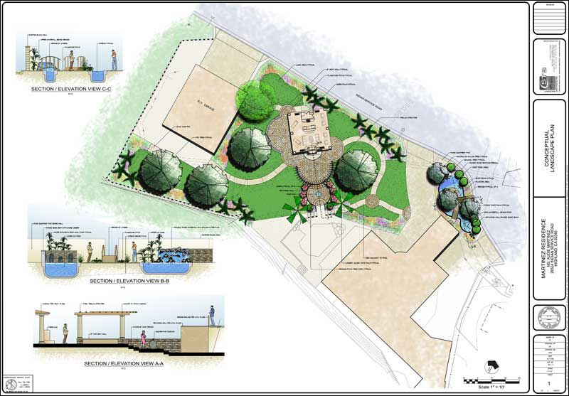 Concept of residential master landscape plan highland ca for Concept design and planning