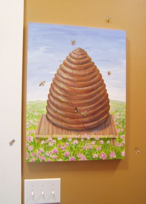 custom made fuse box cover custom painting beehive bees bees rh pinterest co uk painting fuse box