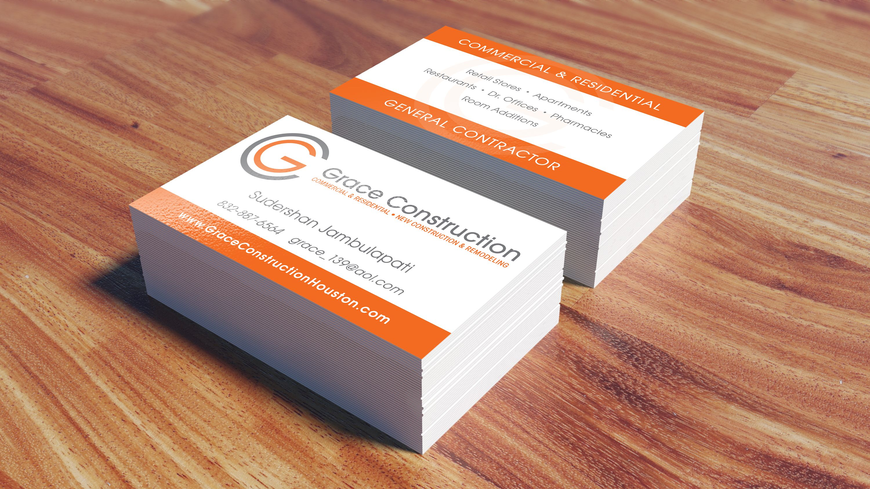 Grace construction business card designed printed by alphagraphics grace construction business card designed printed by alphagraphics sugar land business cards pinterest construction business cards reheart Image collections