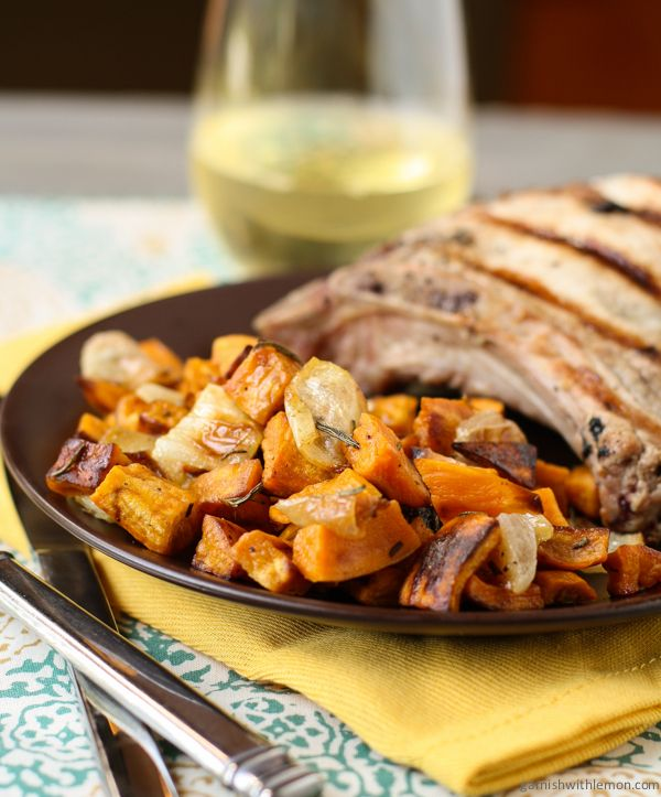 Simple Roasted Sweet Potatoes: These Rosemary Roasted Sweet Potatoes And Onions Are A