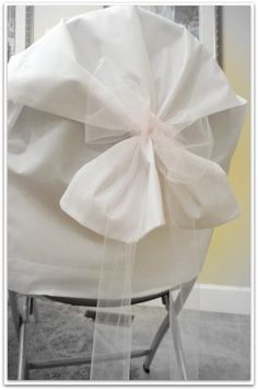 cheap chair covers-for parties using folding chairs using pillow cases & Brilliantly Cheap Chair Covers! | wedding | Cheap chair covers ...