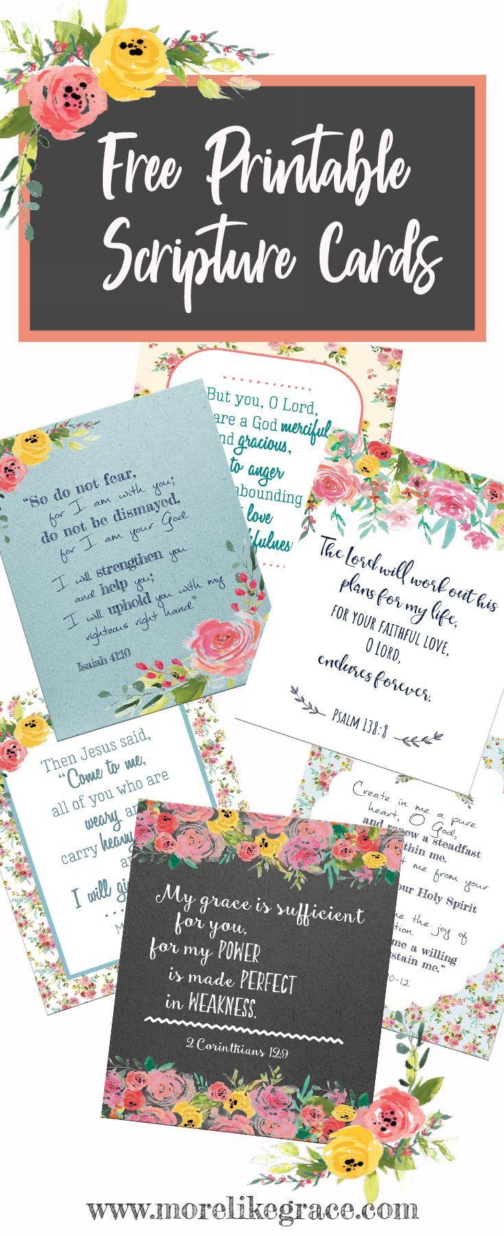 Free Printable Scripture Cards Greetings Pinterest Free