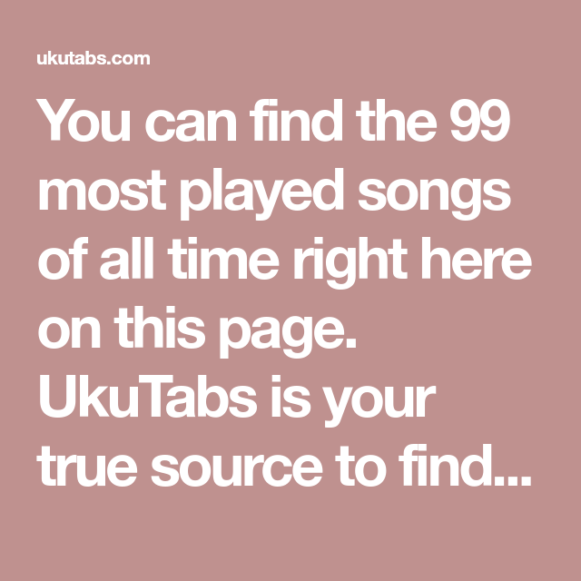 You Can Find The 99 Most Played Songs Of All Time Right Here On This
