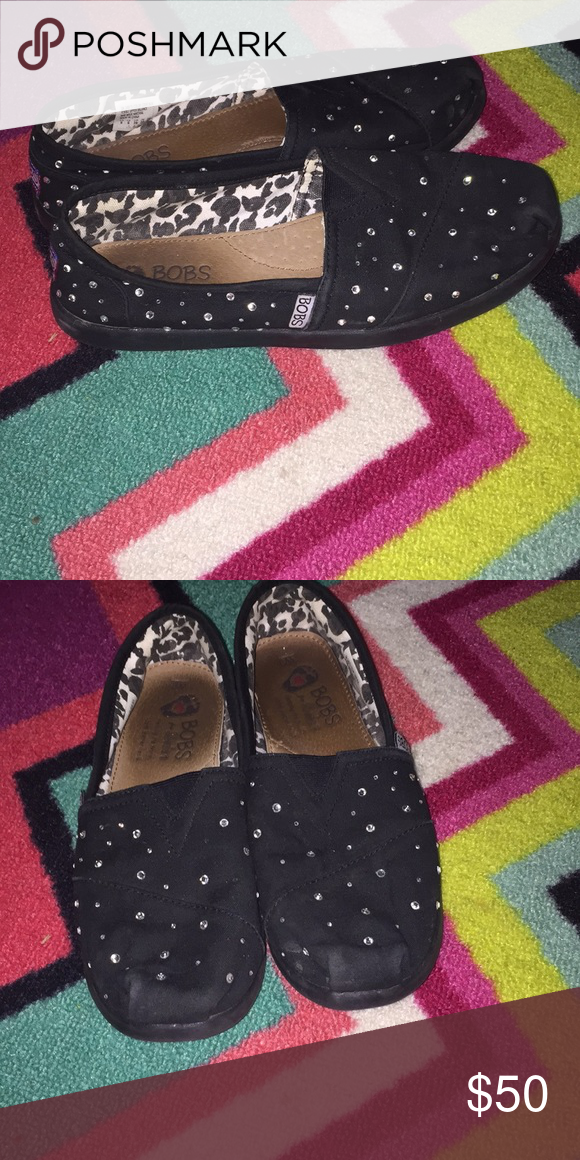 Black sparkle bobs Clean Black sparkly