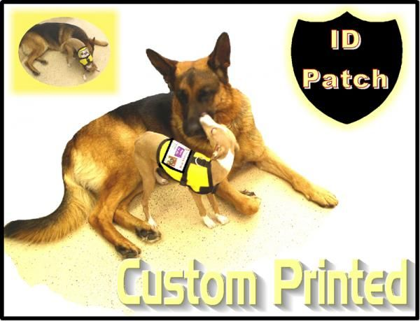 Working Dog Id Patch For Dog Vest Service Dog Vests Working Dogs