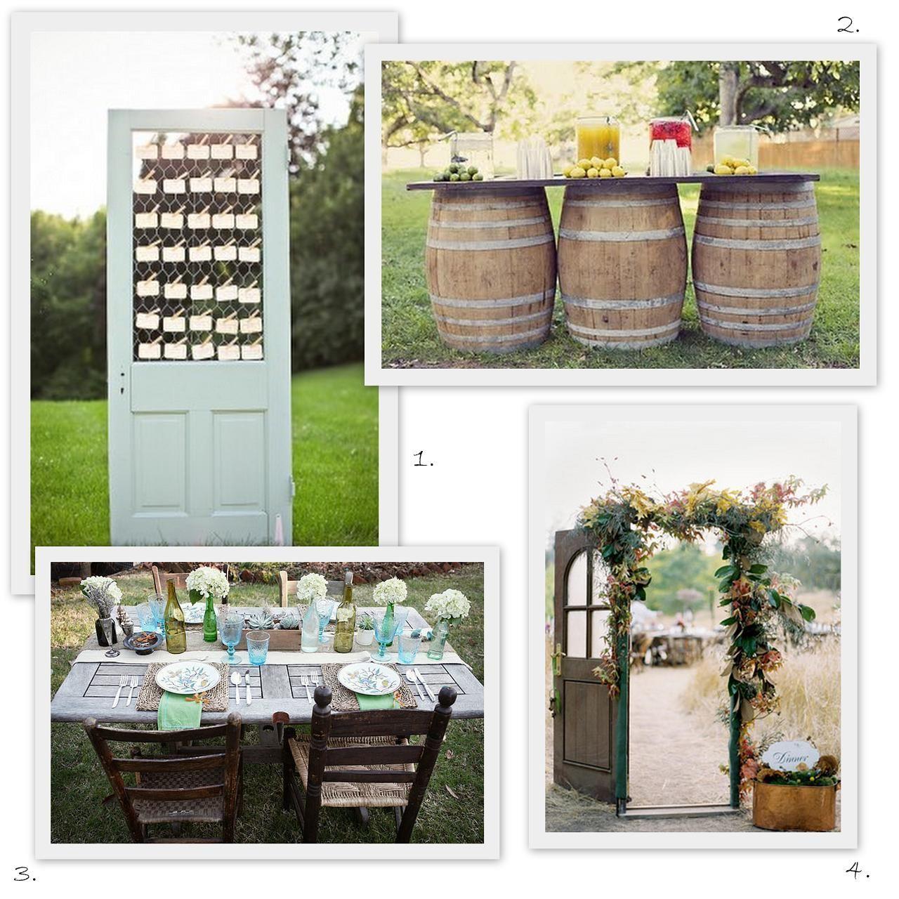 Rustic Door Wedding Ideas: I Do, I Do, Love You!