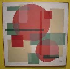 Wobbe Alkema (1900-1984) Al vanaf 1920 maakte Alkema sterk gestileerde tekeningen. Geleidelijk ontwikkelde hij een geometrisch-abstracte stijl van werken waarin cirkel, driehoek en rechthoek bepalende vormelementen werden. In de lokale pers had men moeite met dit constructivisme. Het werd betiteld als 'blokjesfantasieën'