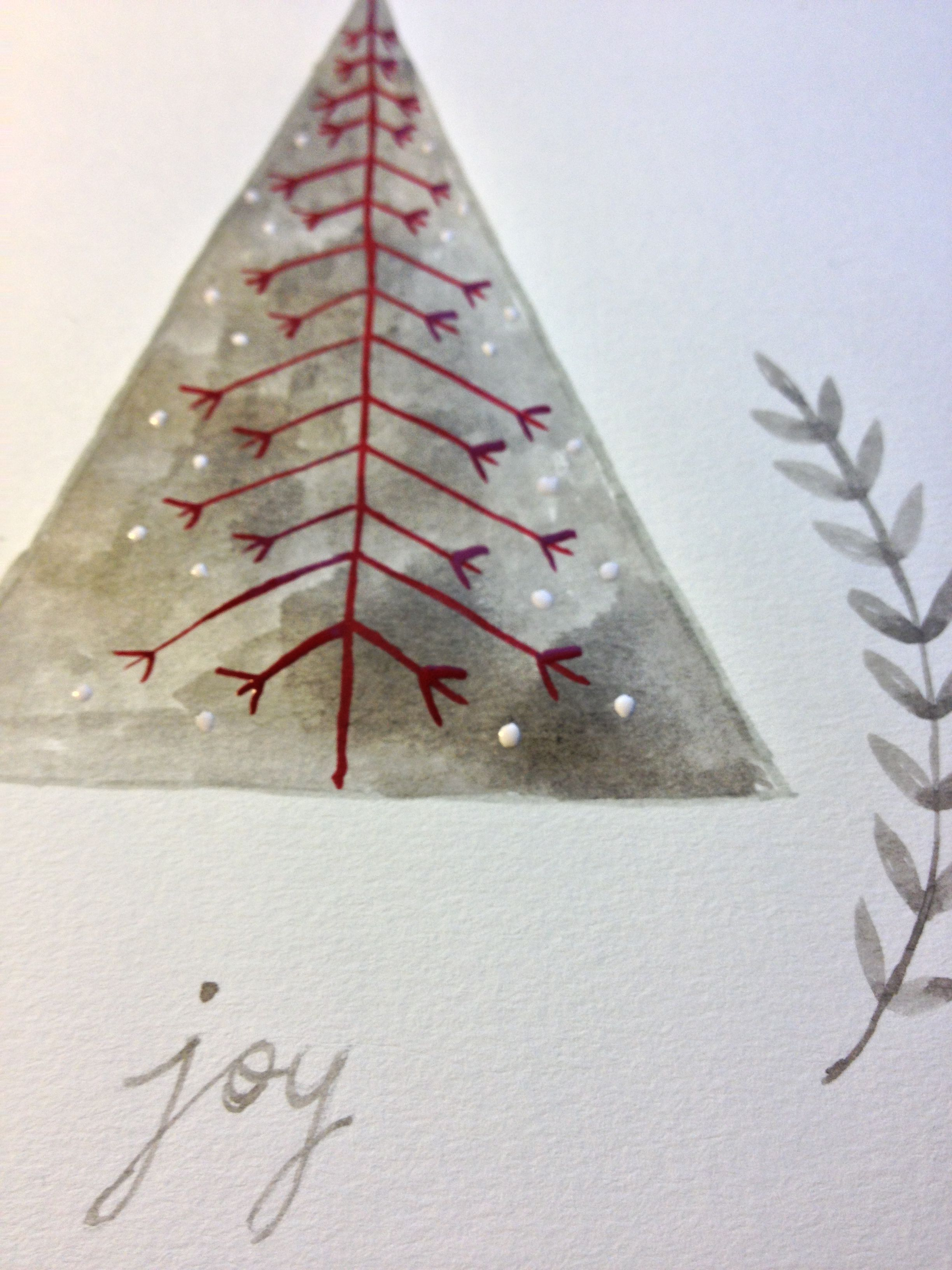 Joy Christmas Card Drawing This Board Is Pre Scan And Fiddle Ink Geometric