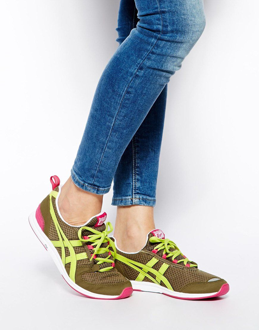 quality lace up in performance sportswear Onitsuka Tiger | Onitsuka Tiger Khaki Ult-Racer Sneakers at ...