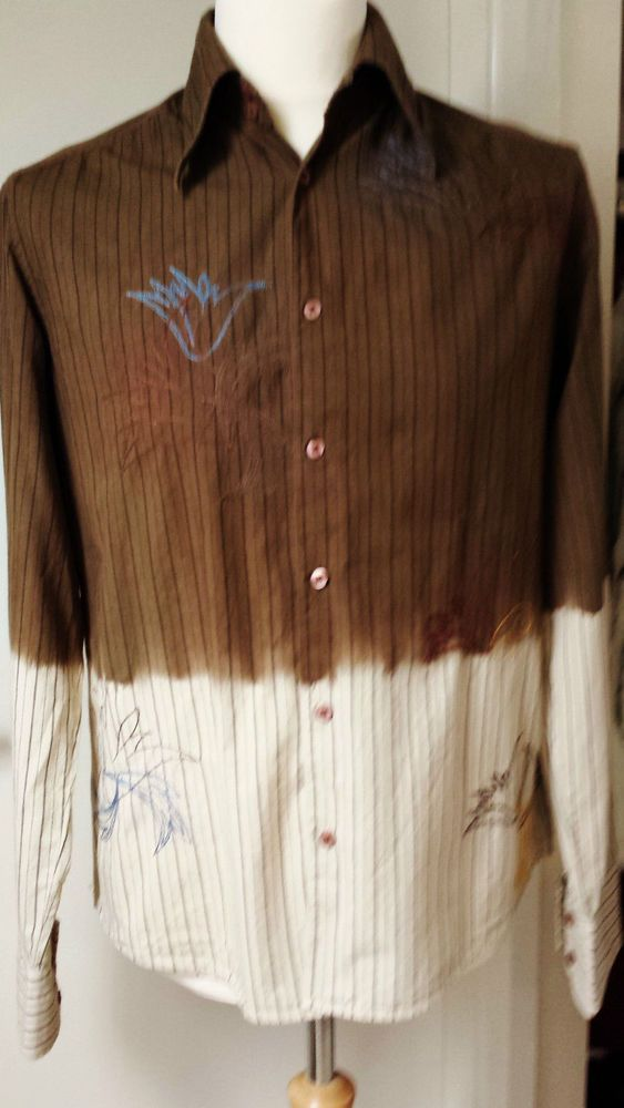 Jack Jones Shirt Size M Mens Brown Cream Cool & Funky Shirts for Men