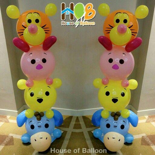 Tsum2 column #tiger #piglet #pooh #eeyore By @houseofballoon Ideas