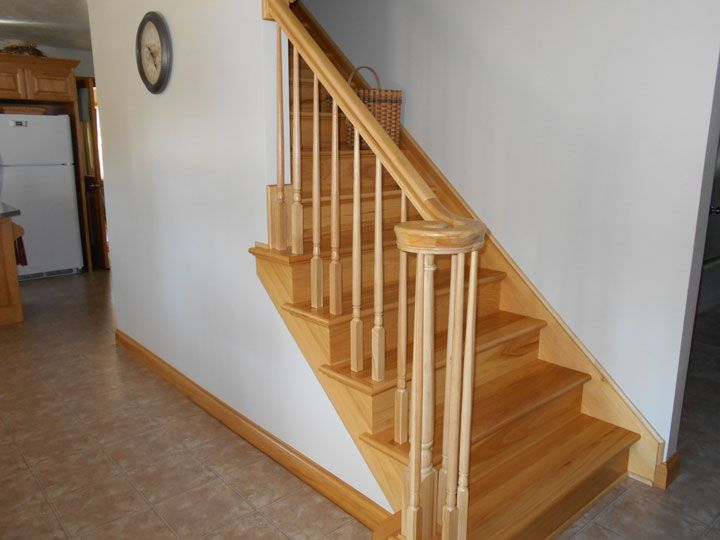 Prefinished Hickory Stair Tread Hickory Is The Hardest And The | Prefinished Hickory Stair Treads | Hickory Natural | Hardwood Lumber | Hand Scraped | Stair Nosing | Retread