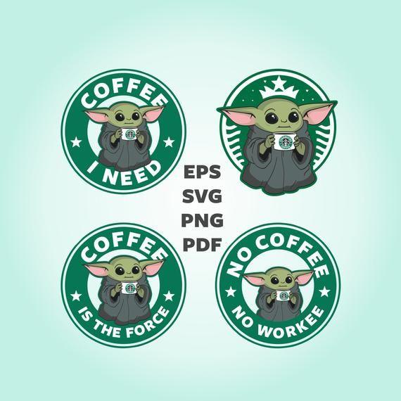 Green Alian Coffee SVG