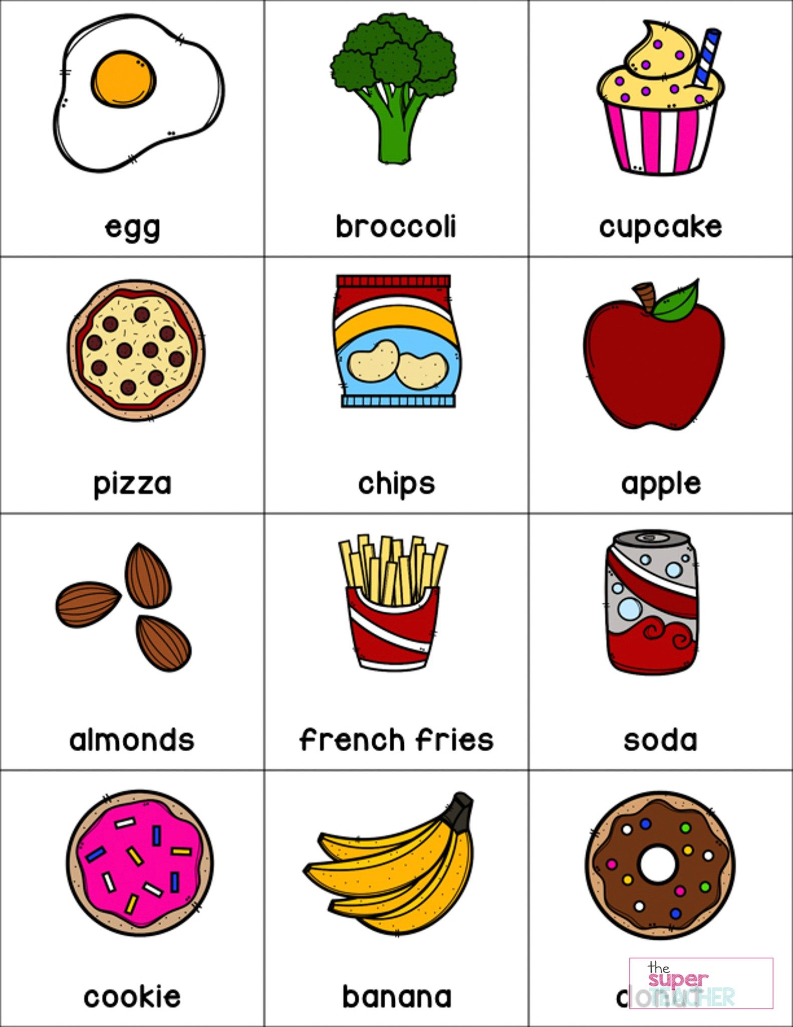 Healthy And Unhealthy Food Worksheet For Preschool