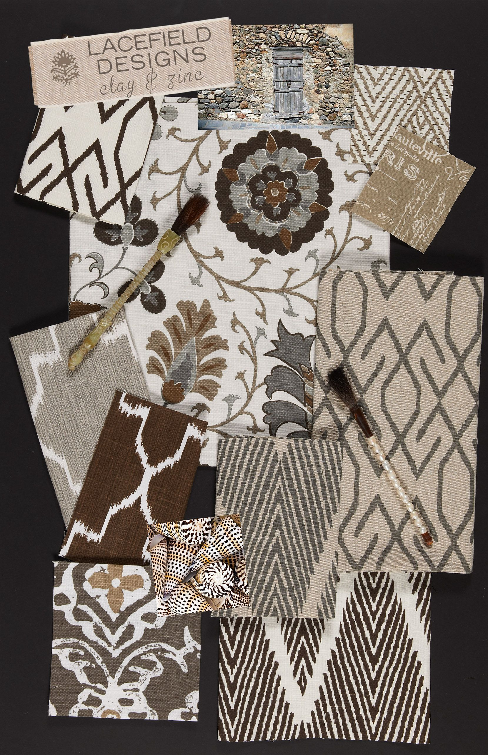 Lacefield Designs Clay Textile Moodboard December 2012